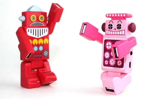 Wholesale USB Gadgets - Lovely Robot USB Hubs