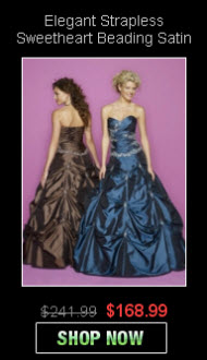 Wholesale Beading Satin Ball Gowns