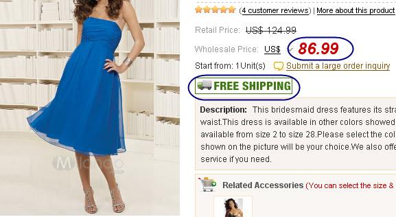 Wholesale Strapless Bridesmaid Dresses