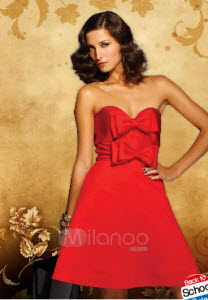 A-line Strapless Sweetheart Prom Dresses
