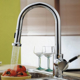 Single-handle Chrome Pull-out Kitchen Faucets