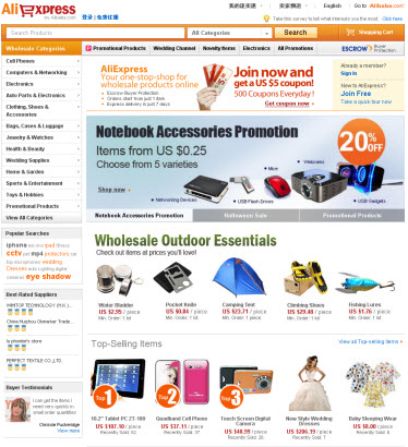 China Wholesale Platform AliExpress.com