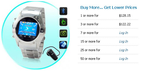 Galactus - Cellphone Watch With Video Camera + Media Player