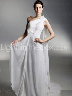 Discounted A-line Satin Wedding Dresses at Lightinthebox