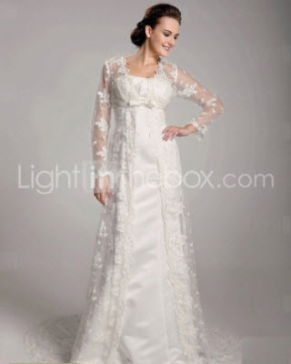 Discounted A-line Strapless Floor Length Wedding Dresses