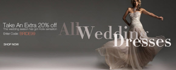 Extra Discount on Wedding Dresses