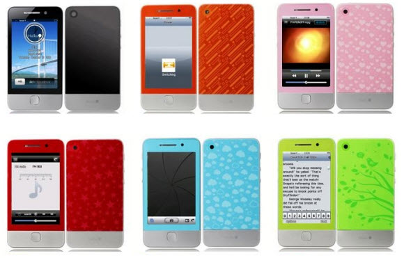 Haiku Colorfolie i6 Cell Phones with Six Colors