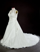 A-line Halter Chapel Wedding Dresses
