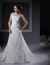 A-line Organza Wedding Dresses