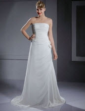 A-line Strapless Wedding Dresses