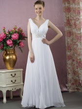A-line V-neck Wedding Dresses