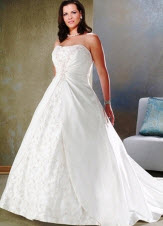 Floor Lengthe Plus Size Wedding Dresses