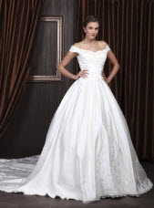 Princess Ball Gown Off the Shoulder Wedding Dresses