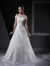 Princess Off the Shoulder Wedding Dresses