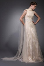 Sheath Column High Neck Wedding Dresses