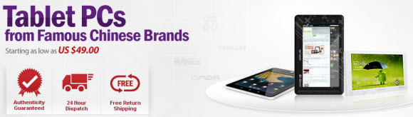 Cheap Chinese Branded Tablet PCs