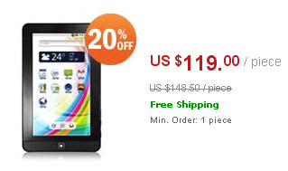 "Teclast T720VE Android2.2 4GB 7"" MID Tablet PCs"