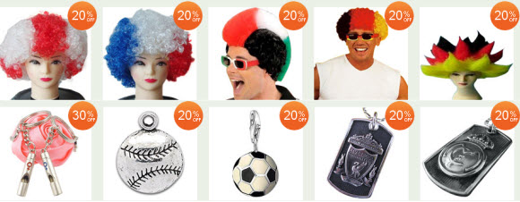 Sports Fan Wigs and Accessories at AliExpress