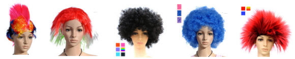 Sports Fan Wigs at Lightinthebox