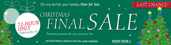 Christmas Final Sale from Milanoo
