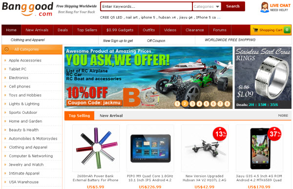 China Shopping Site Banggood.com