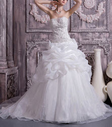 Organze Satin Wedding Dress from Milanoo