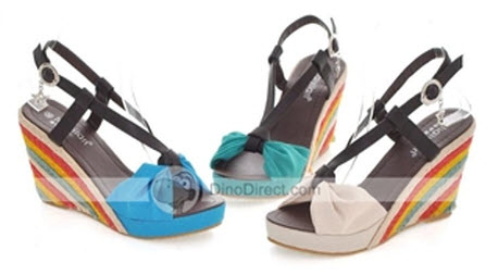 Bowknot Color Block Wedges