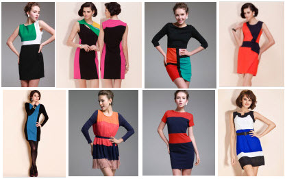 Color-Block Dresses