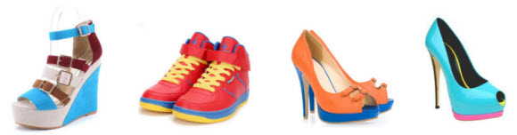Color Block Shoes at Milanoo