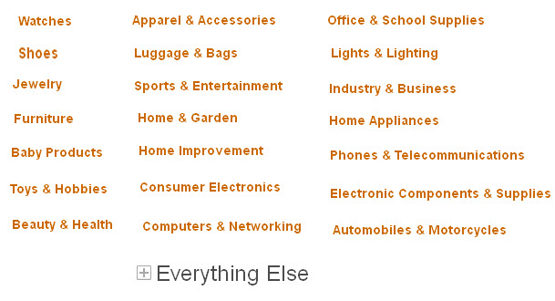 Product Categories at Aliexpress.com