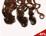 "23.6"" Coffee Brown Curly Hair Extensions with Clips"