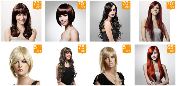 Deals on Women's Hair Wigs from Lightinthebox.com