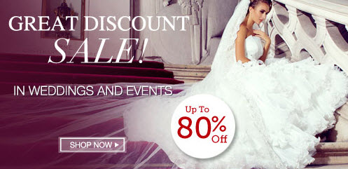 Discounted Wedding Dresses at Lightinthebox