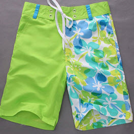 Floral Printed Leisure Men's Board Shorts