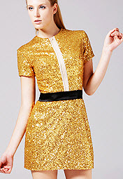 Thigh Length Sequin Zipper Cocktail Dress