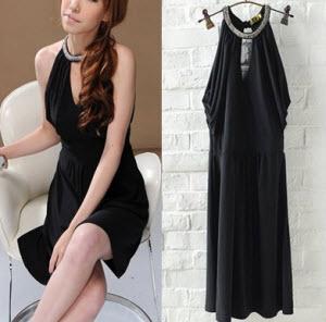 Tiantian Sexy Cut Shoulder Littble Black Dress