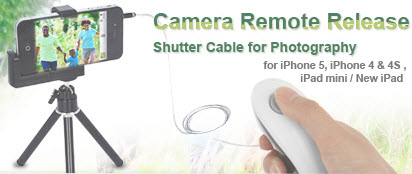 Camera Remote Release Shutter Cable for iPhone, iPad and iPod