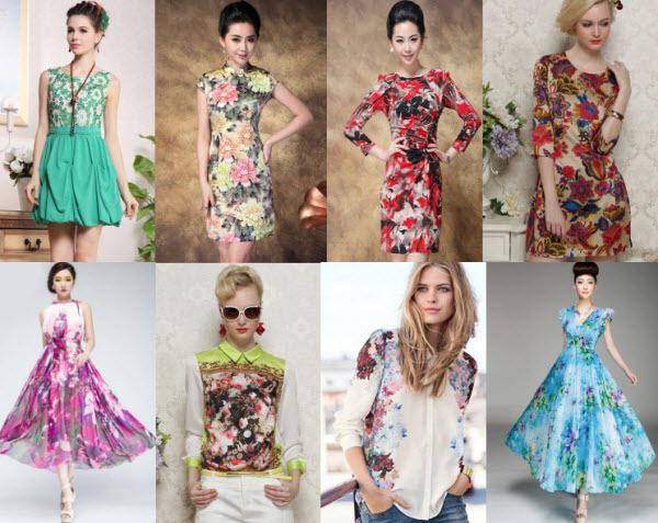 Discounted Print Dresses for Summer 2013 at Milanoo