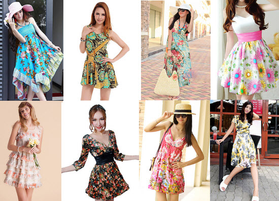 Floral Print Summer Dresses at Lightinthebox.com