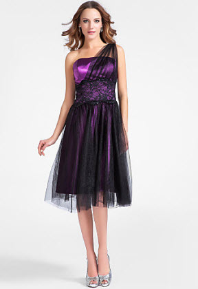 2013 Style One-shoulder Satin Cocktail Dress at Lightinthebox