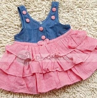 Sleeveless Cotton Dresses for Baby Girls