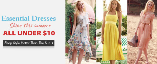 Under 10USD Summer Dresses Deals