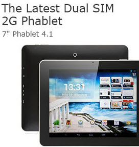 Android 4.1 2G Dual SIM Phablet