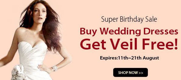 Free Veil for Ordering Wedding Dresses