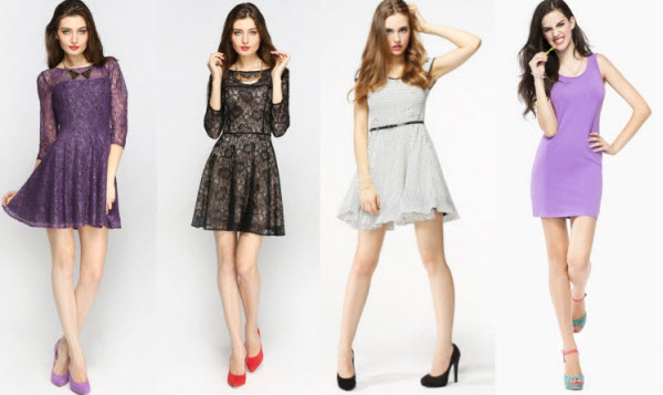 Simple Elegant Dresses by Top Chinese Fashion Brand