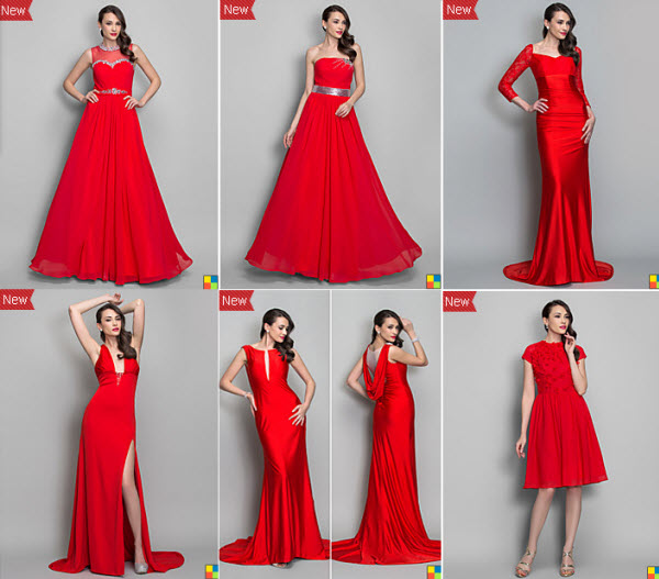 best deals on 2013 red holiday dresses