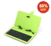 Green Micro USB Keyboard Case for Tablets