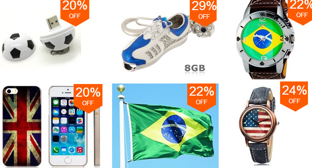 Best Deals on 2014 FIFA World Cup Supplies at Focalprice.com