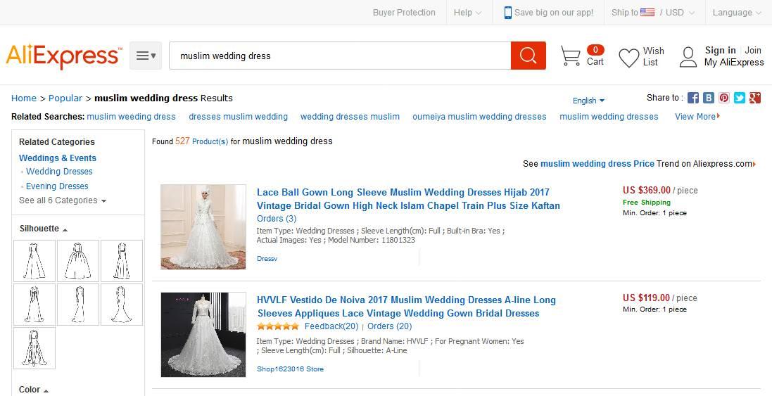 Muslim Wedding Dresses at AliExpress
