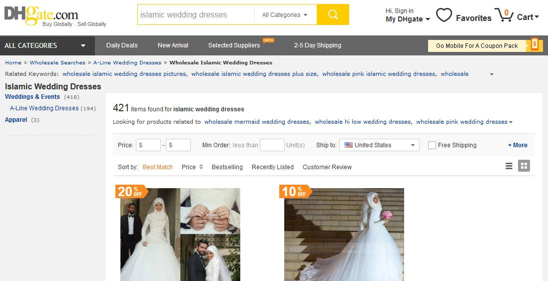 Muslim Wedding Dresses at DHgate